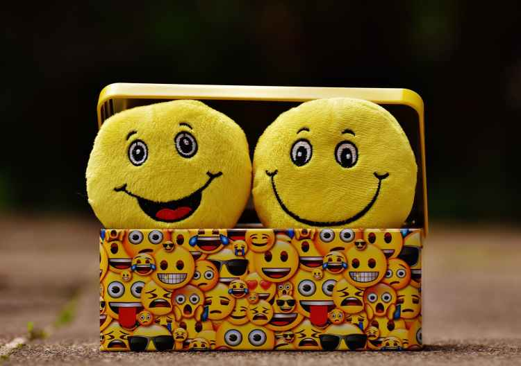 Funny image of smiley faces.